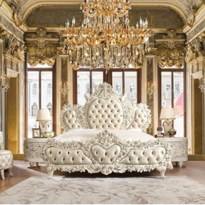 European Elegant Master Bedroom Sets in White
